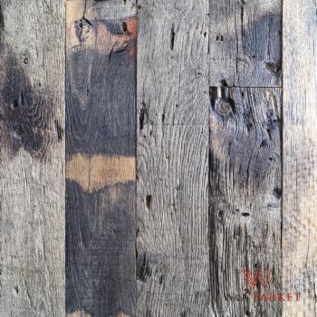 Reclaimed oude eik hout Bordeaux Plank, Eik, Lifetime Oak (80 jaar), grijs en bruin